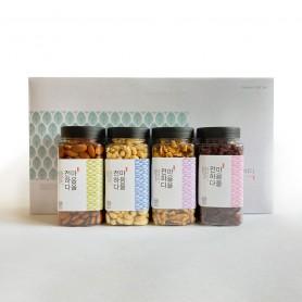 [화이트데이] 견과류 선물세트 2kg(아몬드,호두,캐슈넛,크랜베리)